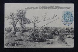 """FRANCE - Oblitération """" Bordeaux à Buenos Aires 1° LJ N°2  """" En Bleu Sur Type Blanc Sur Carte Postale En 1905 - L 23229 - Marcophilie (Lettres)"""