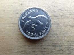Falkland  5  Pence  1998  Km 4.2 - Malvinas