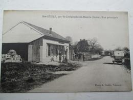 SAINTE CECILE  Rue Principale , Station Service , Rare - France