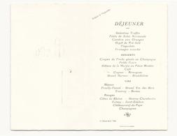 Menu Du 23 Décembre 1946 - Menus