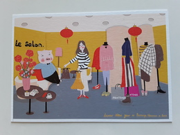 """CARTE POSTALE   Grand Magasin  PRINTEMPS   N° 4  """"   NOUVEL AN CHINOIS  """"  !! - Perfume Cards"""