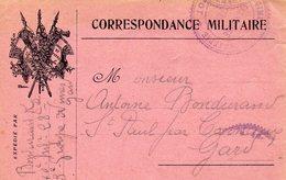 CL- Correspondance Militaire- 3 Drapeaux- - Guerre 1914-18