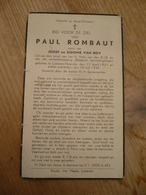 Lokeren Heiende Paul Rombaut Verzetsbeweging 1921 1945 - Devotieprenten