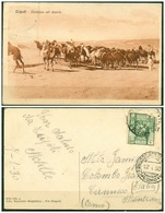 CARTOLINA - V8599 COLONIE ITALIANE TRIPOLITANIA 1930 Cartolina Illustrata (Tripoli Carovana Nel Deserto) Affrancata - Libia