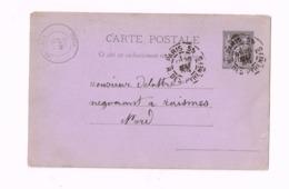 Entier Postal à 10 Centimes.Expédié De Paris à Raismes. - Cartes Postales Types Et TSC (avant 1995)