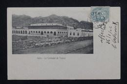 """FRANCE - Oblitération """" Ligne N Paq. FR.N°7 """" Sur Type Blanc Sur Carte Postale De Aden En 1906 - L 23235 - Marcophilie (Lettres)"""