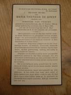 Lokeren Heiende Maria Theresia De Greef 1864 1945 - Devotieprenten