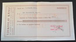 Kingdom Of Yugoslavia - INVOICE SPEC PODUZECE ZA BRIJACKE POTREPSTINE VELIKO VJEKOSLAV KRALJ ZAGREB 1938, BARBERSHOP - Factures & Documents Commerciaux