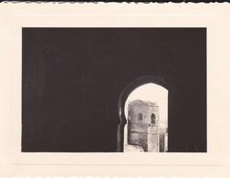 MINI PHOTO--MAROC---RABAT--1936--de La Porte De La Kasba Des Ouadayas Vue Sur Les Remparts--voir 2 Scans - Afrique
