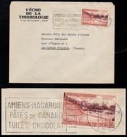 CHOCOLAT - CACAO - COCOA / 1957 FRANCE OBLITERATION SECAP SUR LETTRE (ref LE3220) - Alimentation