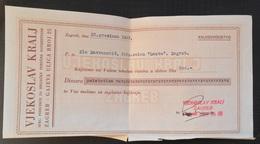 Kingdom Of Yugoslavia - INVOICE SPEC PODUZECE ZA BRIJACKE POTREPSTINE VELIKO VJEKOSLAV KRALJ ZAGREB 1937, BARBERSHOP - Factures & Documents Commerciaux
