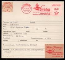CHOCOLAT - CACAO - COCOA / 1953/63 ALLEMAGNE ESSAIS EMA FRANCOTYP SUR CARTE (ref 7354) - Alimentation