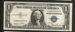 UNITED STATES Of AMERICA / U.S.A. - 1 DOLLAR ( 1935 - SILVER CERTIFICATE ) Series D / BLUE SEAL - Certificati D'Argento (1928-1957)