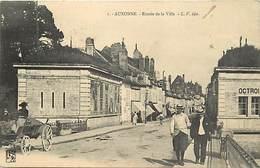 Dpts Div.-ref-AG137- Côte D Or - Auxonne - Entrée De La Ville - Octroi - Octrois - Petit Plan Magasins - Carte Bon Etat - Auxonne