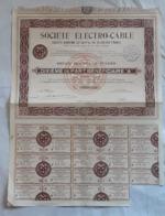 Action, Titre Au Porteur De 100 Francs Société Electro-Câble - Industrie