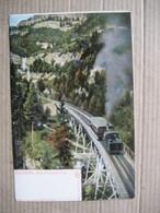 RIGIBAHN  ,  SCHNURRTOBELBRUCKE       TRAIN    TTB - LU Lucerne