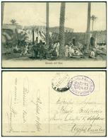 CARTOLINA - V8614 COLONIE ITALIANE TRIPOLITANIA 1913 Cartolina Illustrata In FRANCHIGIA (Mercato Dell'Hara) Con Annullo - Libia