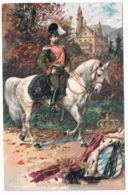 König Ludwig II. Zu Pferd Vor Dem Schloss Neuschwanstein, Wirtshaus-Stempel - Königshäuser