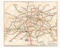 Plan Métro Paris - Europe