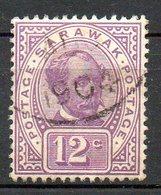 MALAISIE - SARAWAK - (Protectorat Britannique) - 1899-1900 - N° 40 - 12 C. Violet-brun - (Sir Charles Johnson Brooke) - Sarawak (...-1963)