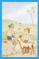 Bambini Pastori Enfants Bergers Capra Chèvre Sign.Soffiantini - Bambini