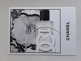"""Superbe Carte  CHANEL   """"   Gardénia   """"   !! - Perfume Cards"""