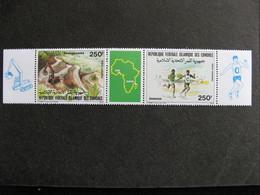 A). Comores: TB Triptyque PA N° 218 A, Neuf XX. Vignette Carte D'Afrique. - Comores (1975-...)