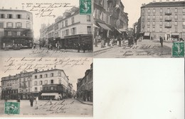 Lot De 3 CPA-Rueil-Place De L'Eglise. - Rueil Malmaison