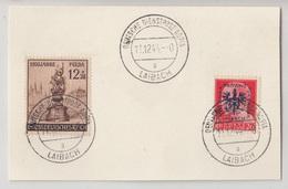 Deutsche Dienstpost Adria Laibach 1944 Postmark On Card B190220 - Slovenia