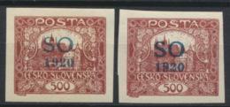Tschechoslowakei Oberschlesien 24Aa+b * - Tchécoslovaquie