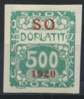 Tschechoslowakei Oberschlesien Porto 10 * - Portomarken