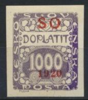 Tschechoslowakei Oberschlesien Porto 11 * - Portomarken