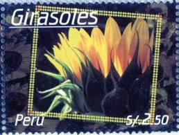 Lote P2009a, Peru, 2009, Sello, Stamp, Gisasoles, Girasol, Sunflower. Flower - Perú