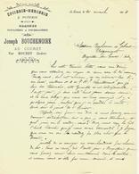 1914 J.H BOUCHENOIRE Au Couret /Mouhet (Indre) épicerie Mercerie Poterie Graines =>BONHOMME & GABERT Argenton  S/Creuse - France