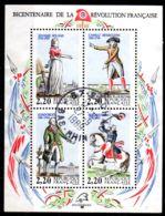 27.9.1989; Franz Revolution Mi-Block Nr. 8 Mit Tagesstempel; Gem. Scan, Los 50991 - Blocs & Feuillets