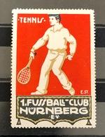 Germany Vintage Poster Stamps Sports Tennis  . - Cinderellas