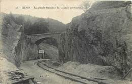 CPA 08 Ardennes Revin LA GRANDE TRANCHEE DE LA GARE PROVISOIRE Chemin De Fer Ferroviaire Train - Revin