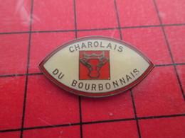 918A Pin's Pins / Rare Et De Belle Qualité / ANIMAUX : TETE DE VACHE BOEUF CHAROLAIS DU BOURBONNAIS - Animaux