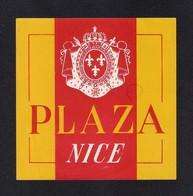 Etiquette HOTEL PLAZA à Nice.   Luggage Label. - Hotel Labels