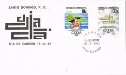 31915. Carta F.D.C. SANTO DOMINGO (republica Dominicana) 1981. Ingenieria QUIMICA - República Dominicana