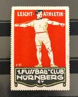 Germany Vintage Poster Stamps Sports Athletics Javelin Throw - Cinderellas