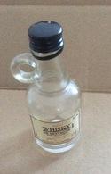 Bouteille Mignonnette : Whisky De Bretagne -  Jacques Fisselier  (10 Cm-vide) - Autres Bouteilles