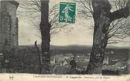 Dpts Div.-ref-AG121- Aveyron - Laguiole - Panorama Pris De L Eglise - Carte Bon Etat - - Laguiole