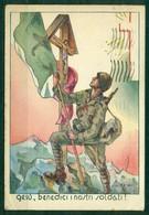 CARTOLINA - Z677 CARTOLINE MILITARI Gesù Benedici I Nostri Soldati (con Soldato, Bandiera E Crocefisso), - Militari