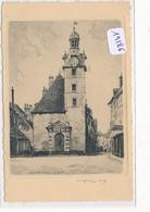 Eau Forte Format CPA -19186- 21 - Nuits St Georges -  Le Beffroi - Signée Par L'artiste ( 2 Scans) - Mulhouse