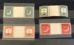 Pakistan Old Time Ordinary SERVICE Gutter Pair - Pakistan