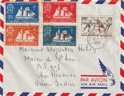 SAINT PIERRE ET MIQUELON LETTRE 1968 HOCKEY SUR GLACE - St.Pierre & Miquelon