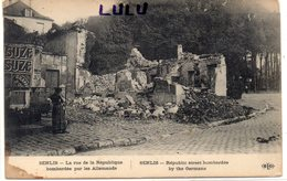 DEPT 60 : édit. E L D : Senlis La Rue De La République Bombardé Par Les Allemands - Senlis