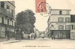 Dpts Div.-ref-AG120- Aube - Bar Sur Aube - Rue D Aube - Pharmacie Coron - Chapellerie François - Chapelleries - Magasins - Bar-sur-Aube