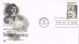 31916. Carta F.D.C. WASHINGTON (Estados Unidos) 1973. COPERNICUS, Copernico Astronomia - Sobre Primer Día (FDC)